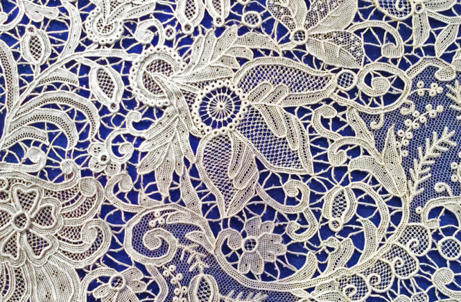 How To Sew Vintage White Lace